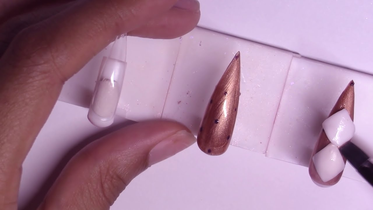 Femi's Quilted Nail using Sculpture Gel | Marble, Bling Acrylic Press-On Nails