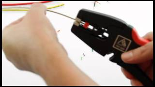 How to strip electrical wire perfectly - Self-Adjusting Stripping Tool