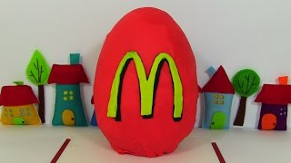 Giant Play Doh Surprise Egg McDonalds Happy Meal Surprise Toys