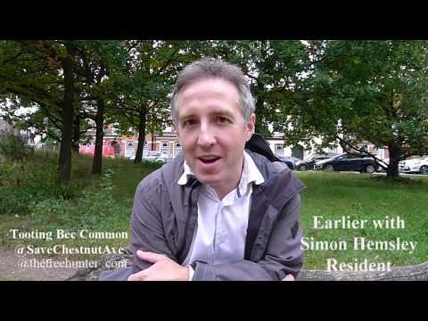 Save Chestnut Avenue Tooting Bec Common Simon Hemsley