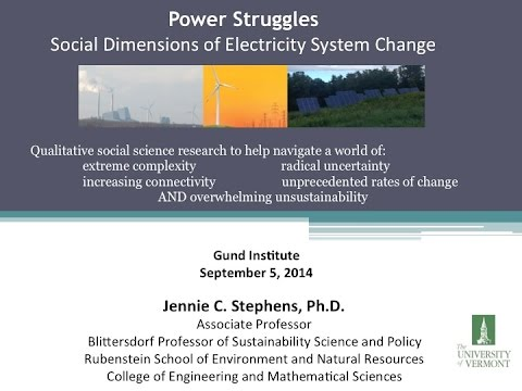 Gund Tea: Jennie Stephens: Power Struggles: Social Dimension