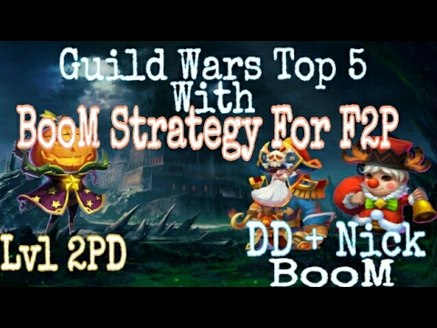 Castle Clash: Guild Wars Top 5 With lvl2 pd & Boom Strategy For F2p With Nick+Drake