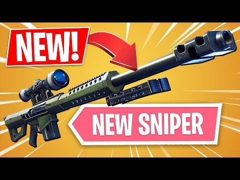 New heavy sniper rifle!! *pro fortnite player* (fortnite new update)