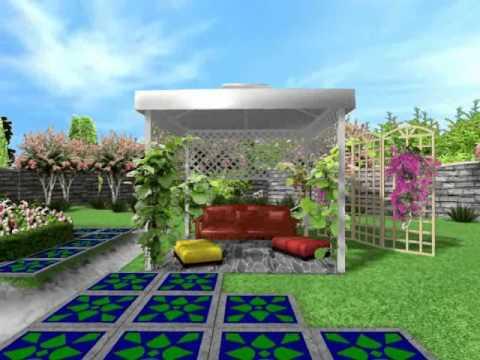Cмотреть онлайн Ландшафтный дизайн. Дизайн проект дачного участка в мавританском стиле