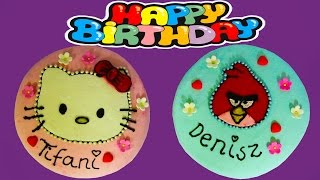 Happy Birthday! Hello Kitty Angry Birds Cake Hello Kitty Toys