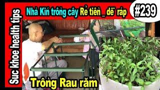 TIẾN LỢI Nhà kín trồng cây nhỏ RẺ TIỀN, trồng rau răm, Convenient Mini greenhouse #239 SKHT