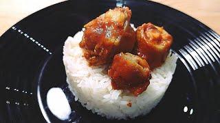 Свиные хвосты в остром соусе. Легкие рецепты. #супербатянакухне