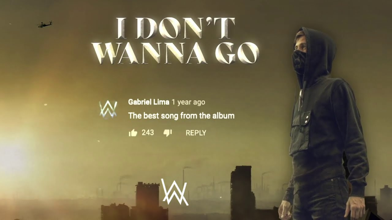 Alan Walker - I Don't Wanna Go (Official Lyric Video)