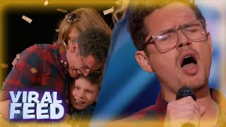 GOLDEN BUZZER TUESDAY - Father of SIX Wins Simon Cowells Golden Buzzer | VIRAL FEED