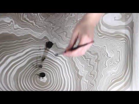 Suminagashi Paper Marbling DIY Japanese Water Marbling (How to Marble Paper)