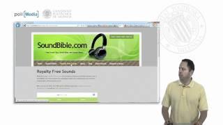 Reutilizar recursos de Internet. Buscando contenido libre: Sonido. © UPV