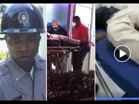 Video: Momento en que resulta herido un Teniente del DICAN en Nagua, el cual posteriormente murió.