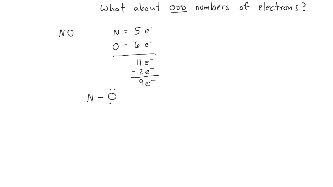 Lewis Structures - Odd Number Of Electrons
