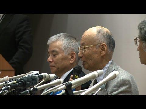 Nobel Medicine Prize winner Satoshi Omura speaks in Tokyo