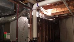 After the installation of the new 50 gallon power vented water heater.