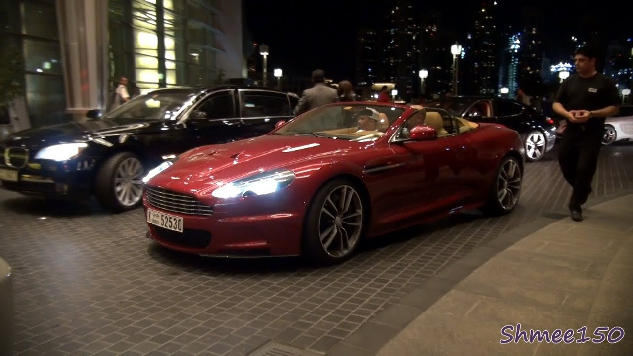 Aston Martin Dbs Volante Stunning Dark Red Youtube