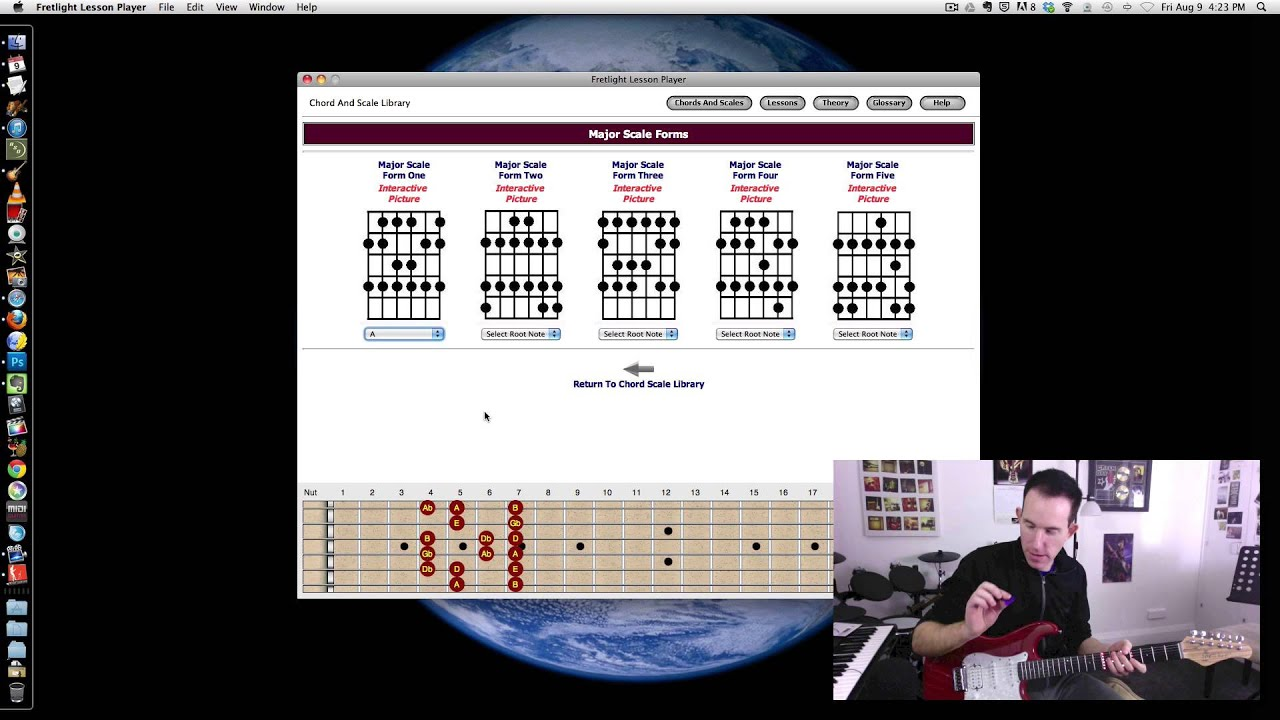 Guitar Software Fretlight Lesson Player Overview Chords