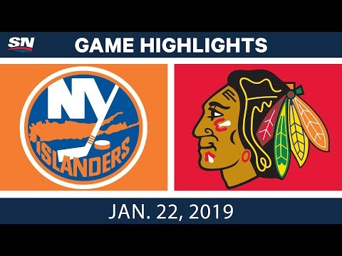NHL Highlights   Islanders vs. Blackhawks - Jan. 22, 2019