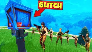 TROLLING DEFAULTS with *GLITCHES* - Fortnite Battle Royale thumbnail