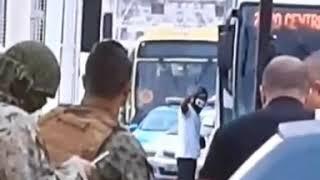 Sequestrador levando tiro - ponte rio Niterói RJ