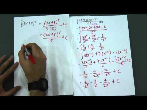 Basic Integration for SPM Add Maths