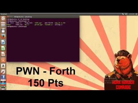 32C3 CTF 2015 | #PWN | forth 150 Points - YouTube