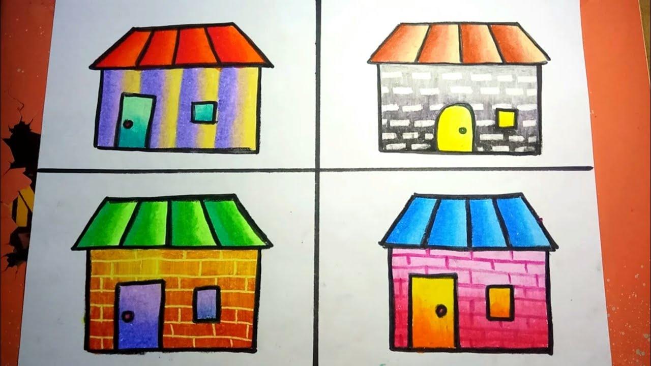 Variasi Cara Mewarnai Dinding Dengan Gradasi Crayon