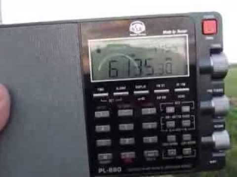 Tecsun PL-880: 6135 Khz, Radio Sana'a  (Republic of Yemen Radio) tent.