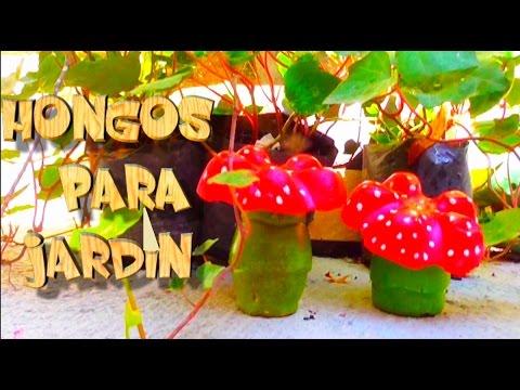 como hacer hongos decorativos para jard n con cemento