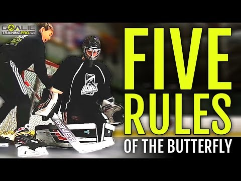 Ice Hockey Goalie Training | 5 Rules Of The BUTTERFLY 📝🥅