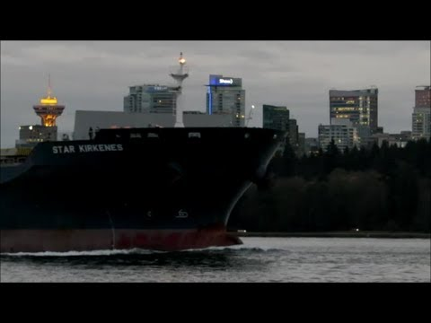 Vancouver BC. Shipspotting at First Narrows