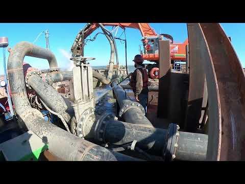 Toledo Harbor dredging pump-out!