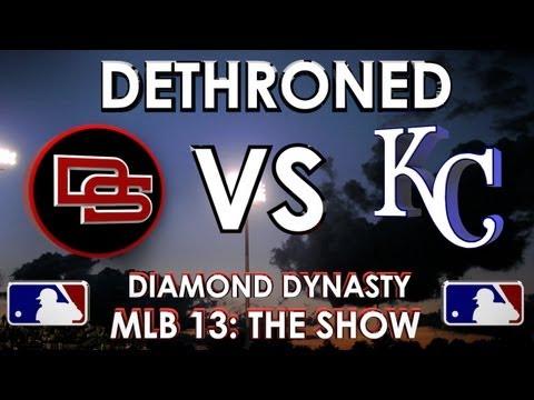 DETHRONED - The Dunbar Snackbars vs. Kansas City Royals : MLB 13 The Show - Diamond Dynasty