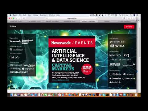 Heavy industry HFT hedge fund investbank players at Newsweek AI Data Science Conference in NYC