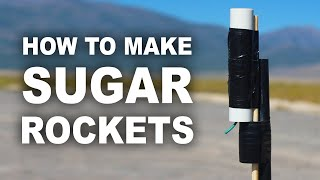 "How to make hobby rocket ""sugar motors"" using sugar and kitty litter, that shoot up over 2300 feet high, and cost less than $0.50 to make. Some quick links to a ..."