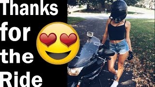 picking up girls! girl gets on my bike Ride #10 | motovlog |
