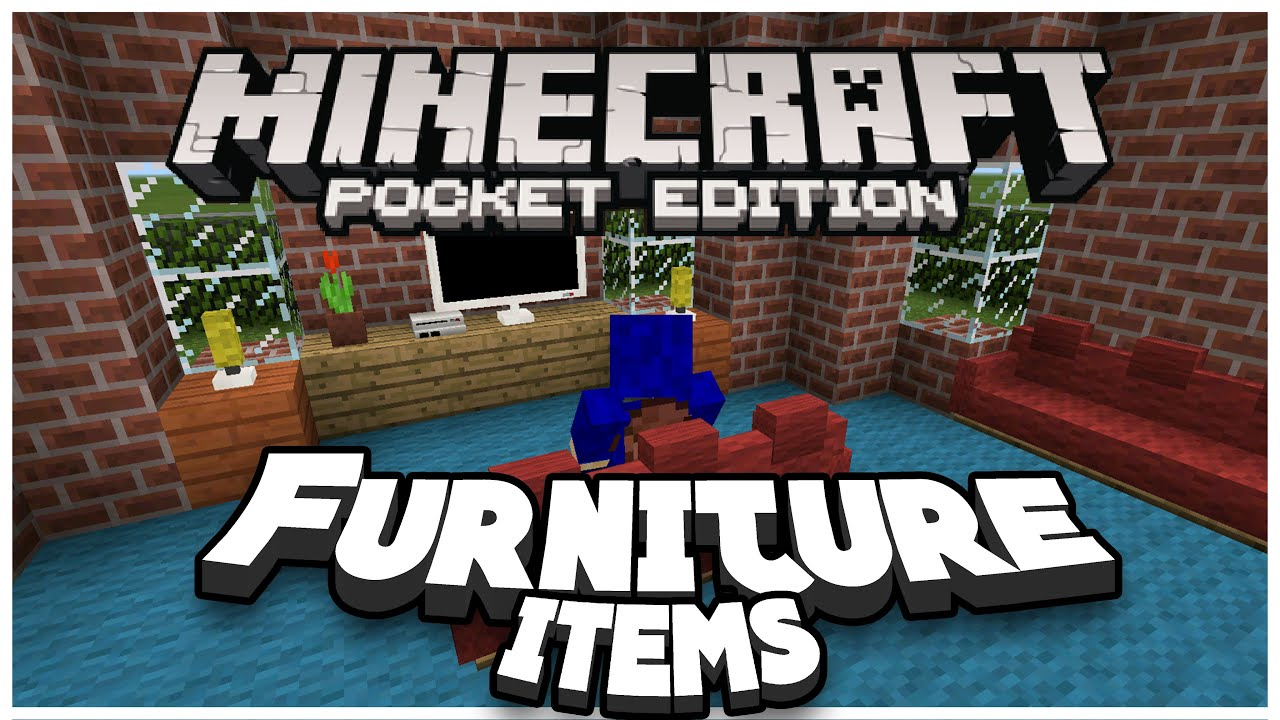 Furniture In Mcpe Mod Minecraft Pe Pocket Edition Youtube