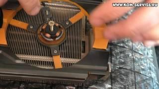 Видеокарта, замена подшипника вентилятора.