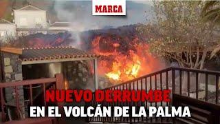 Nuevo derrumbe del cono principal del volcán de La Palma I MARCA