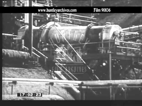 Oil shale extraction in the U.S.A. 1970's.  Film 90836