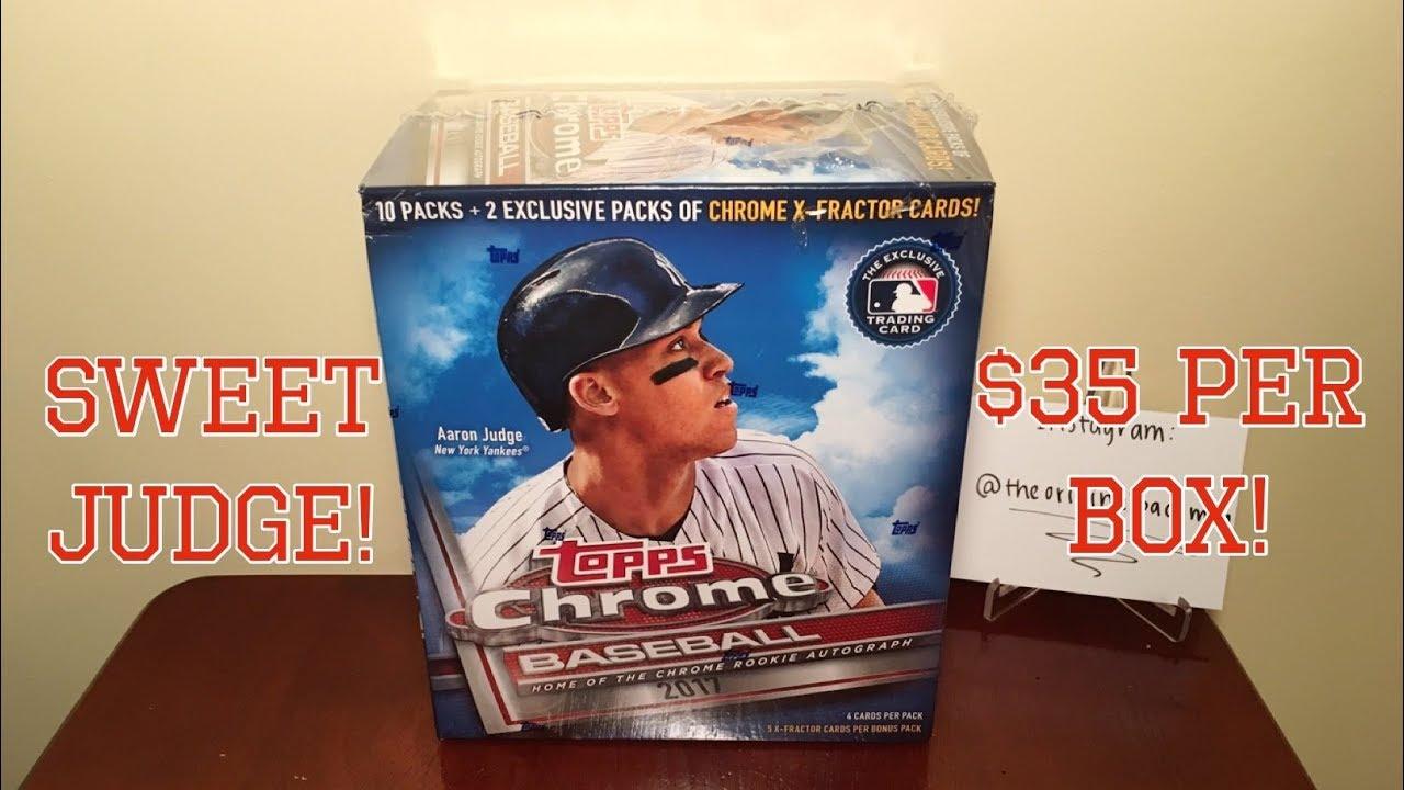 2017 Topps Chrome Baseball Walmart Mega Value Retail Blaster Box Break Sweet Judge Rookie