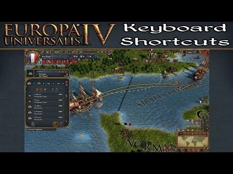 Keyboard Shortcuts for Europa Universalis IV - YouTube