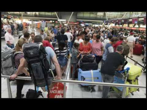 Passengers facing delays and long queues at some European airports