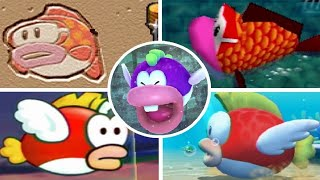 Evolution of Cheep Cheep Minigames in Mario Party