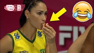 Volleyball Player Eating During a Match !? Funny Volleyball Videos (HD)