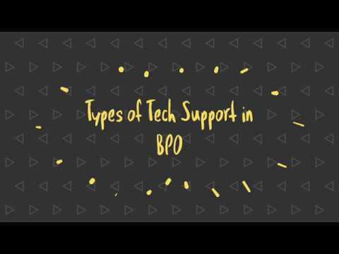 Types of Tech Support in BPO