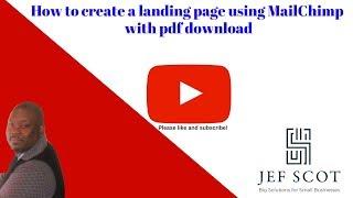 كيفية إنشاء الصفحة المقصودة باستخدام MailChimp مع تحميل الكتاب الإلكتروني