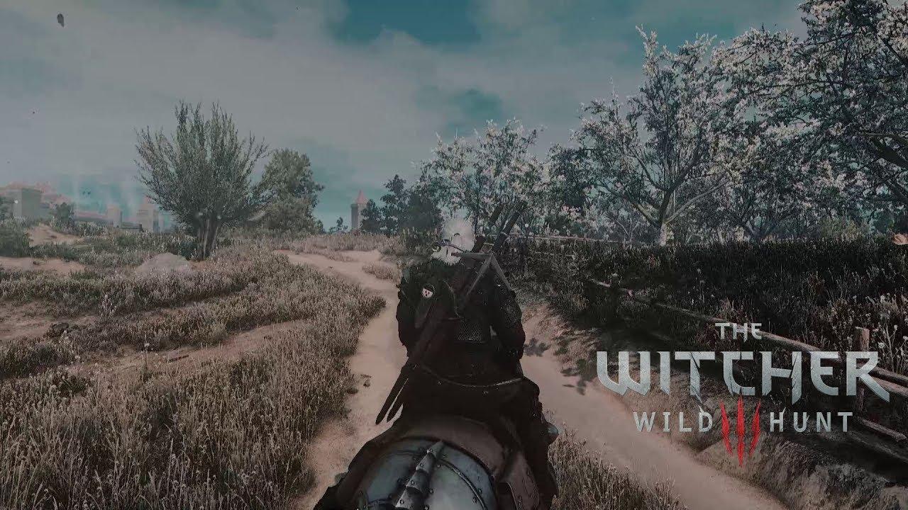 The Witcher 3 mods #43 Beautiful Grass Mod + E3 Wall + Stylish Triss