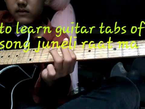 Juneli raat ma- guitar tabs - YouTube