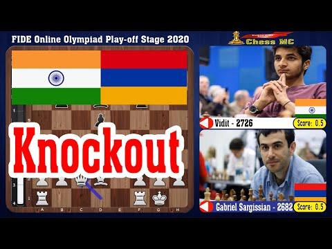 Team: India Vs Armenia, FIDE Online Olympiad Play-off Stage 2020